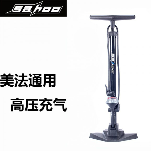 Sahoo mountain road bike bicycle electric car car floor pump with pressure gauge high pressure