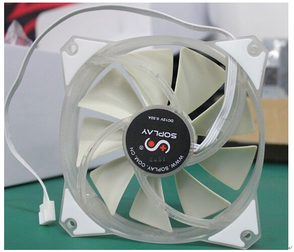 Sai pulei 12025 computer chassis fan cooling fan 4pin pwm fan 12cm white light led lights