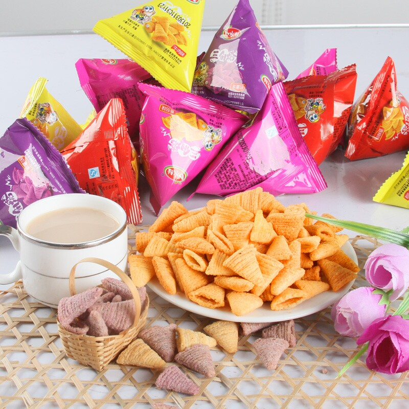 Saliva baby triangle tower v crisp 300g tip angle casual puffed rice crust crispy snack food snack spree