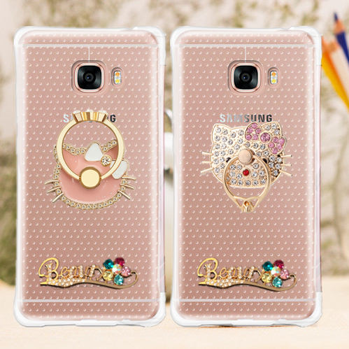 Samsung c7000 c7 mobile phone shell female models ring stand korea creative cartoon silicone protective sleeve popular brands men soft