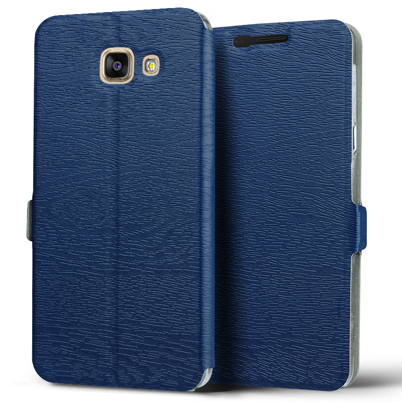 Samsung SM-A5100 A510F A5plus bark grain leather flip phone shell protective sleeve holster commerce a 5 2016