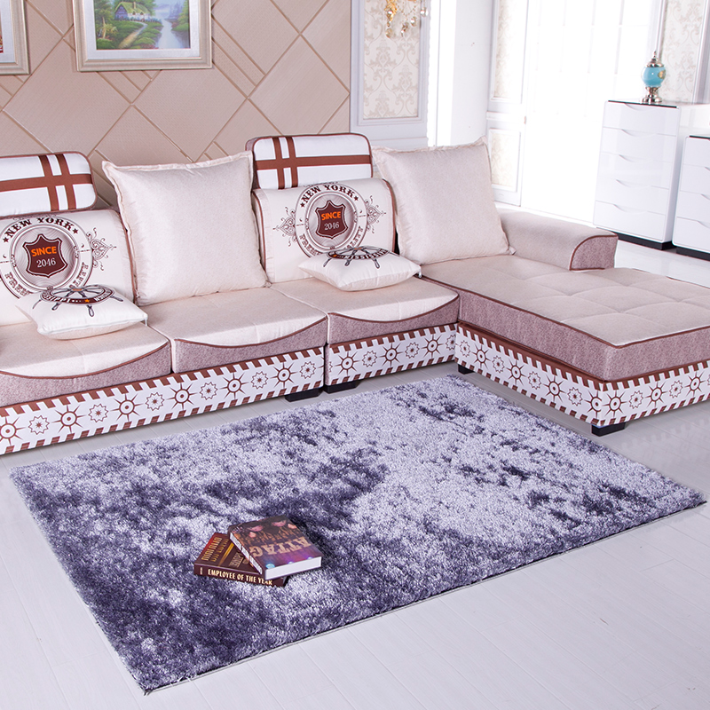 San siro encryption liangsi korean silk carpet carpet living room coffee table bedroom bedside blanket can be given system