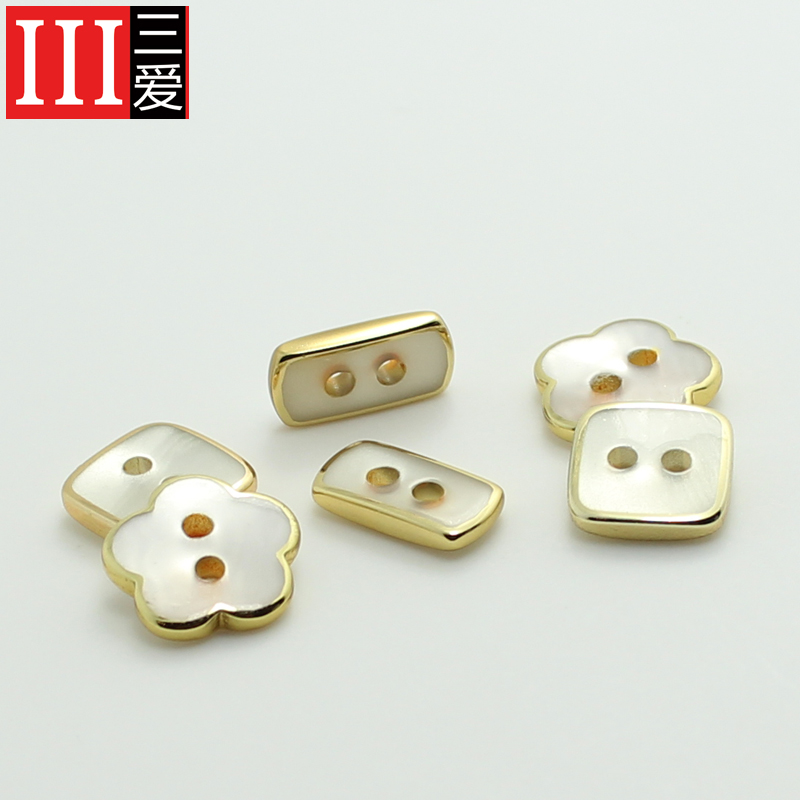 Sanai button grade resin plating gold high quality ladies sweater shirt cuff buttons 11. 5mm deduction