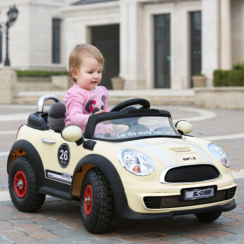 Sanle stroller children electric car bmw mini remote control car children electric car baby toy car shipping
