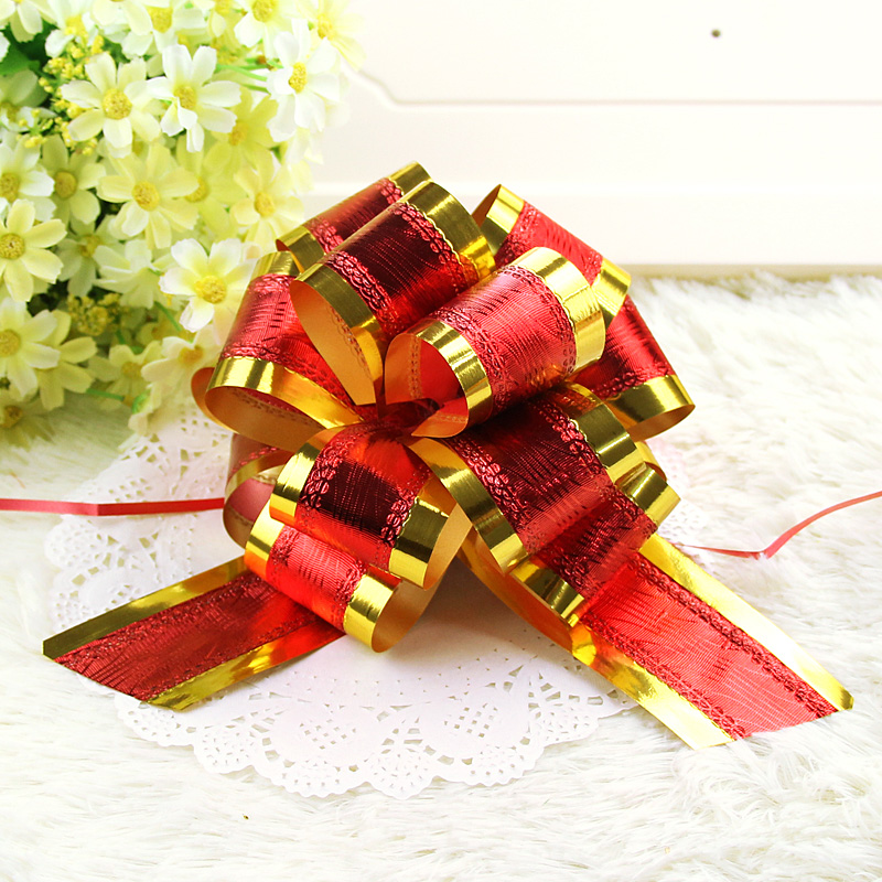 Sansei red string wedding arranged marriage room wedding car decoration 50 # gift packaging hand flower garland ball pull the ball