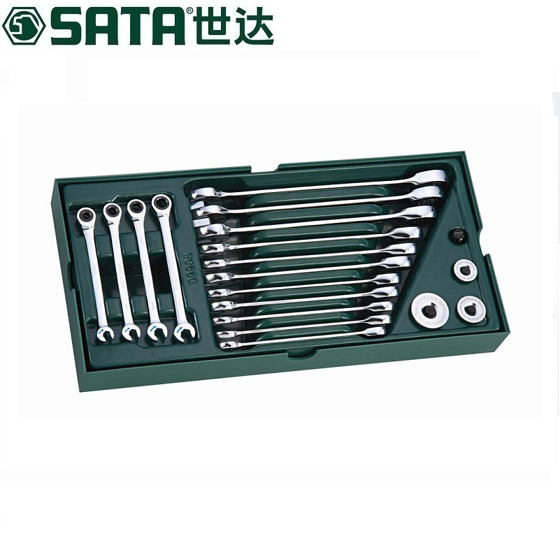 Sata/cedel tool tray set-19 full polished dual quick pull tool tray set 09908
