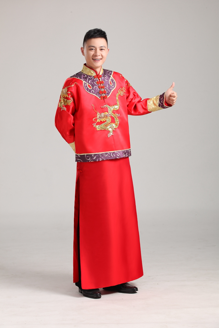 109a033f332c1 Get Quotations · Satin wedding dress and groom xiu chinese wedding dress  men s clothing ancient chinese costume male models