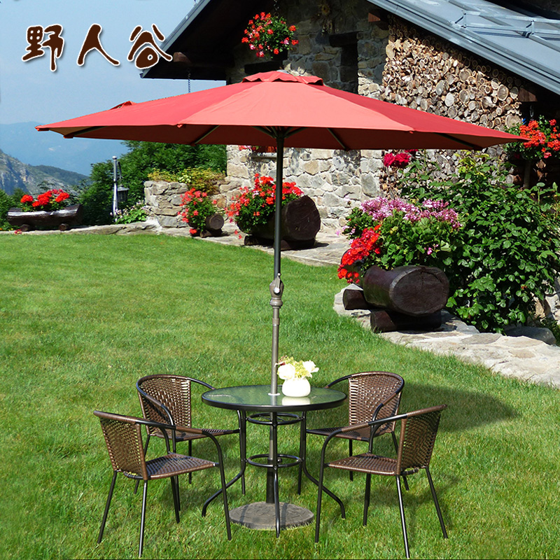 Savage valley outdoor furniture rattan wicker chair leisure furniture combination balcony patio umbrella tables and chairs tables and chairs wujiantao