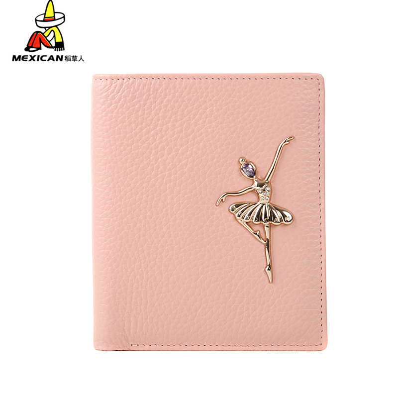 Scarecrow 2016 new women's wallet short paragraph leather wallet leather wallet korean fashion leather wallet vertical section