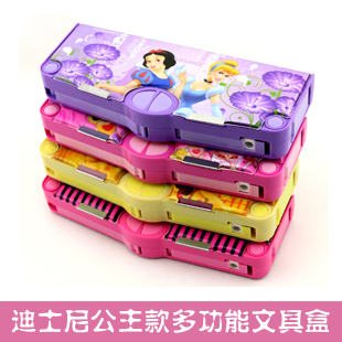 School gift princess minnie children's multifunction stationery pencil box korean version of the lovely creative children's primary school pencil box