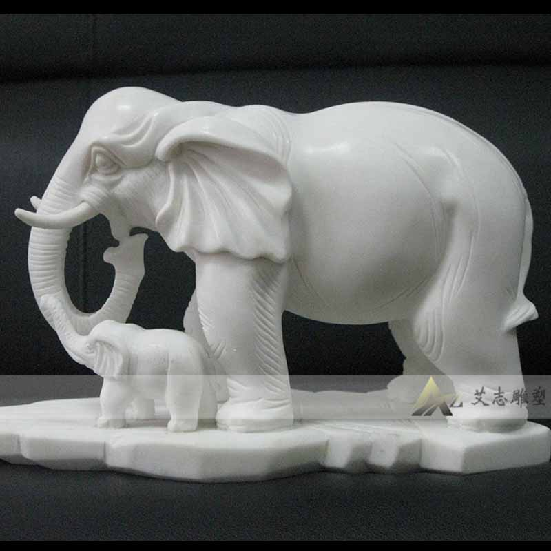 [Sculpture] yizhi AZ1162 specializing in the production of european sculpture sculpture marble stone carving stone carving elephant