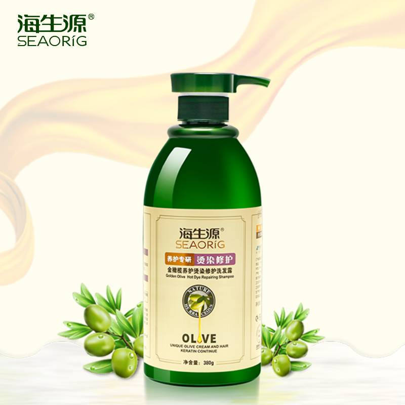 Sea biogenic gold olive hot dye repair shampoo 380g conservation repair restore damaged dye care shampoo