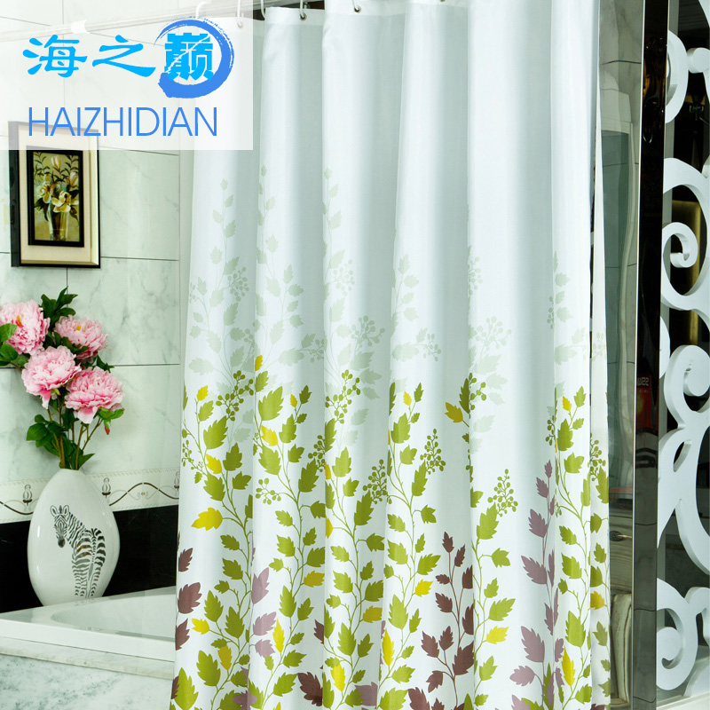 Get Quotations Sea Summit Waterproof Polyester Fabric Shower Curtain Mildew Hooks Can Be Customized