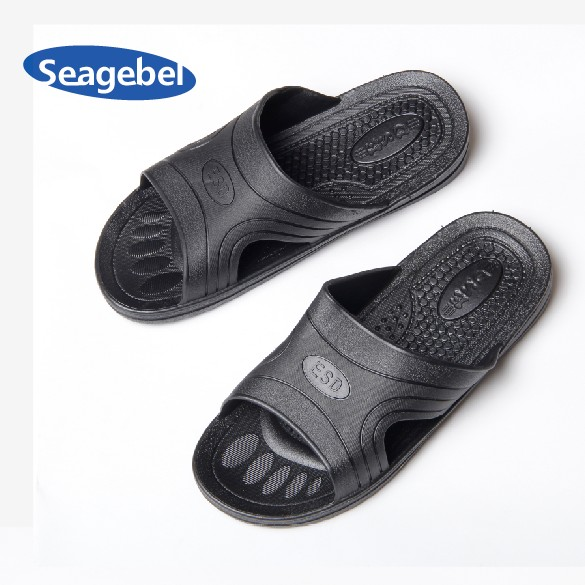 Seagebel antistatic dust slippers slippers black slippers slippers clean shoes clean and comfortable soft bottom