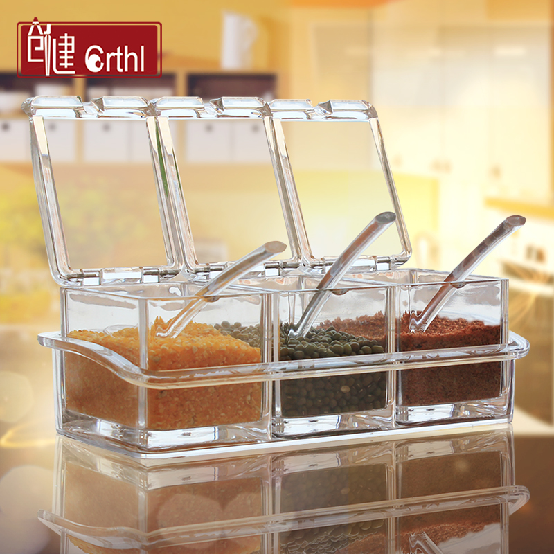 Seasoning condiment bottles kitchen supplies seasoning condiment bottles box material box set seasoning box spice jar seasoning salt shaker cans