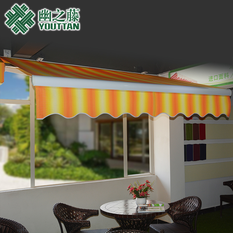 Secluded vine outdoor thick aluminum sliding canopy awning retractable awning canopy awning folding tent carport