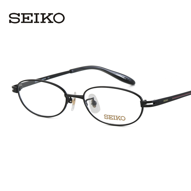 Seiko seiko titanium glasses female models delicate little face full frame glasses frame myopia frame glasses H02070