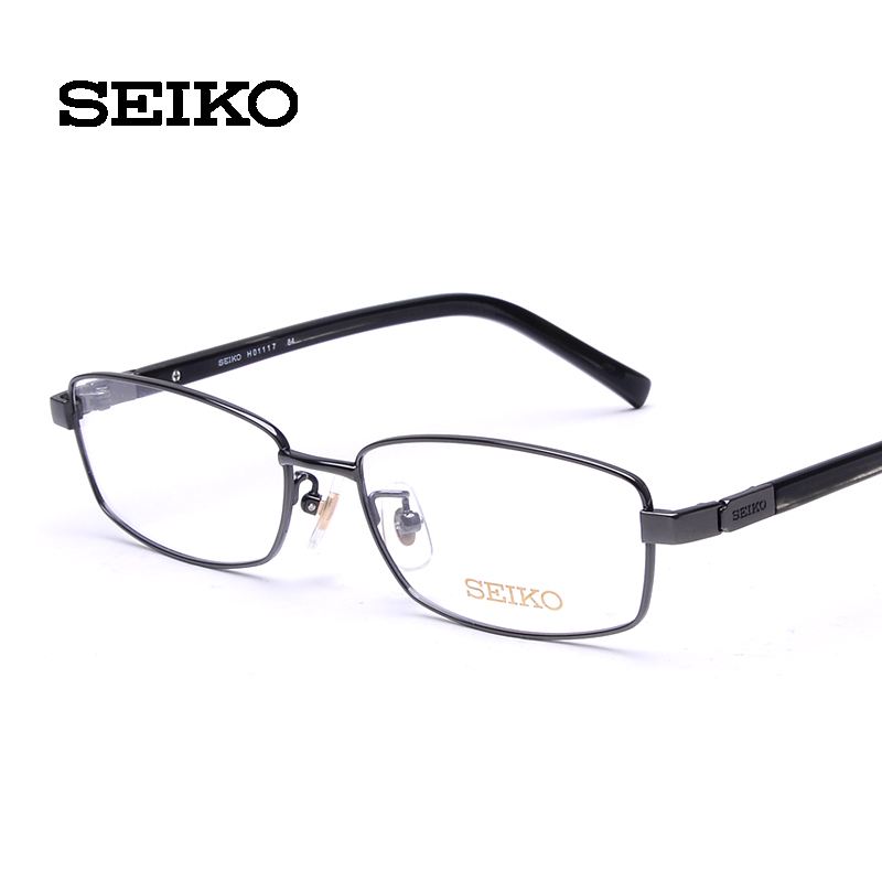 339534db85 Get Quotations · Seiko titanium frames male myopia frame sheet metal  temples eyeglass frame business h01117