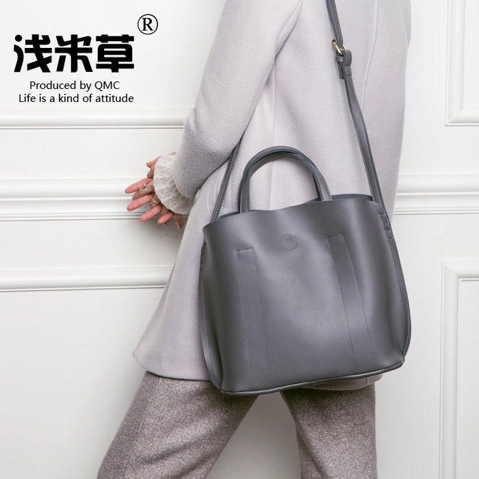Selling brand leather handbag large leather bag tote bag large capacity casual shoulder bag shopping bags softcover