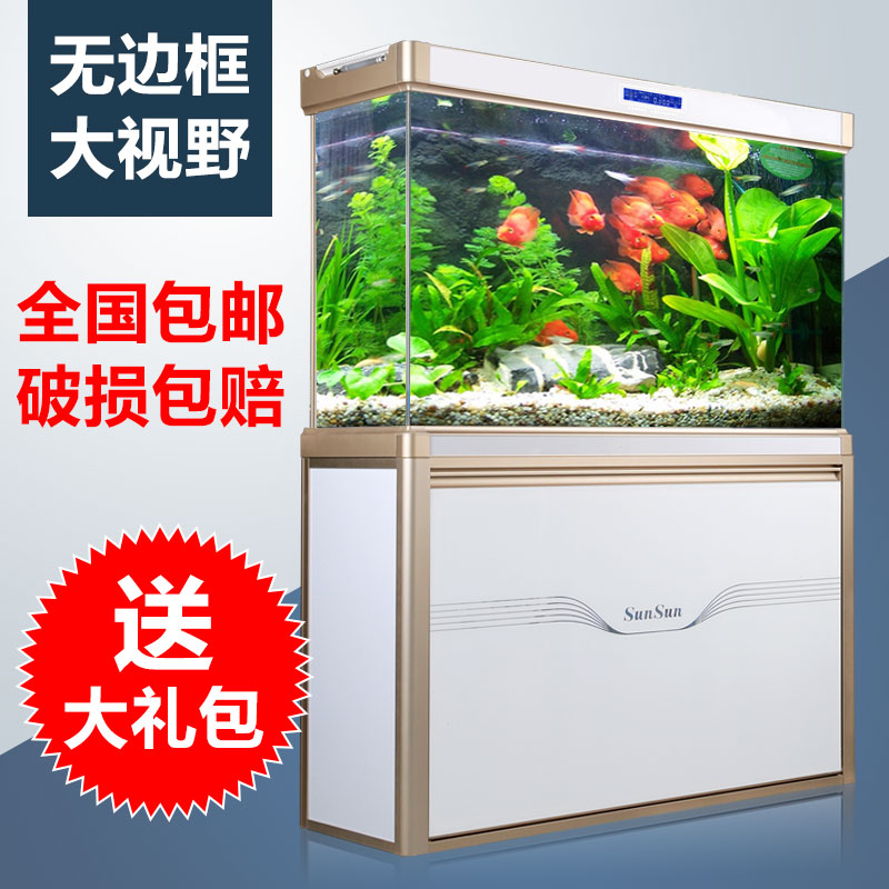 Sensen ultrawhite large living room in the bottom filter aquarium fish tank bottom filter tank ecology glass hot octopus