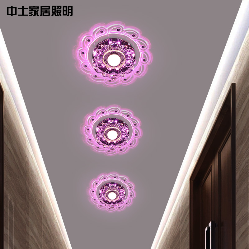 Sergeant crystal lamps aisle lights corridor lights led home lights porch light foyer lights surface mounted ceiling lights minimalist