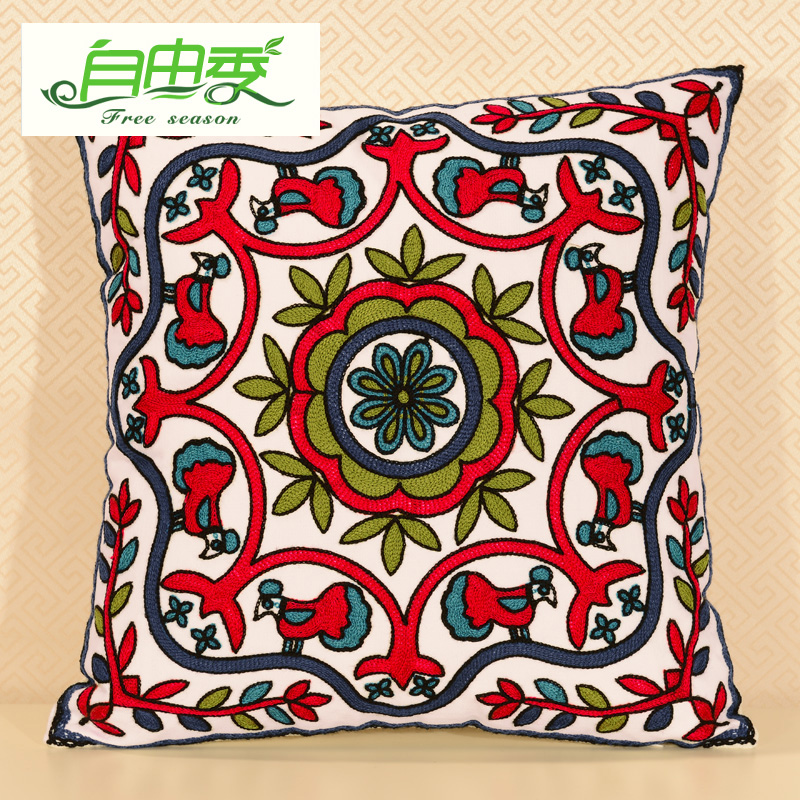 Set of cushion covers pillow without the core cushion covers european front embroidered cotton canvas pillow cushion sofa bed pillow cushion
