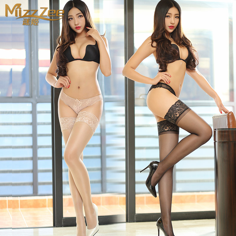 Sexy lingerie sexy stockings female sao transparent silicone high socks lace stockings black stockings temptation 8230