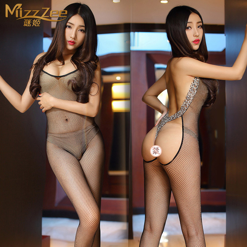Sexy transparent hollow lutun sexy leotard contains adult sexy lingerie suit temptation sm female sao uniforms pajamas