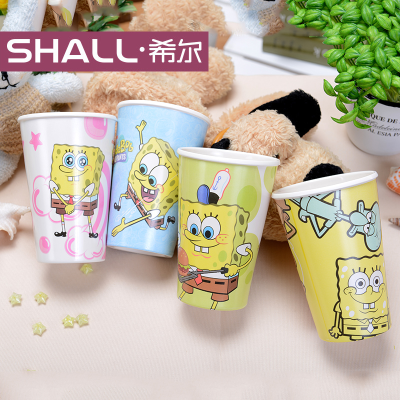 Shall/hill genuine authority snoopy/spongebob cup creative couple cups a family of four