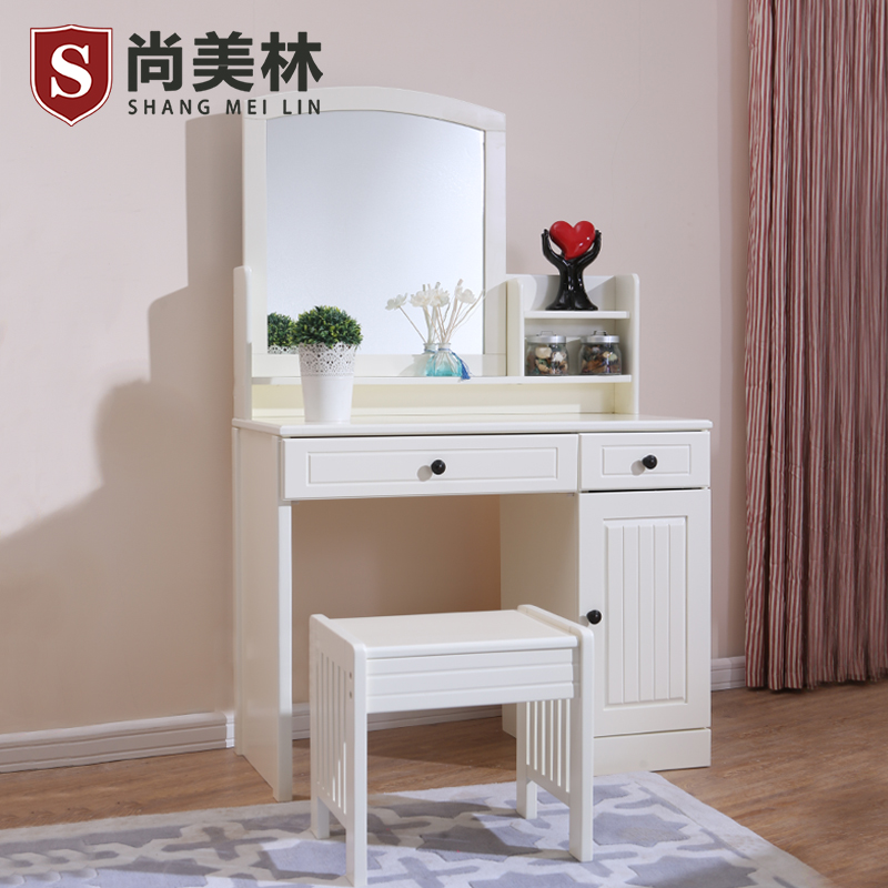 Shang meilin korean garden wood dresser dresser modern minimalist dresser dressing table dressing table cabinet makeup