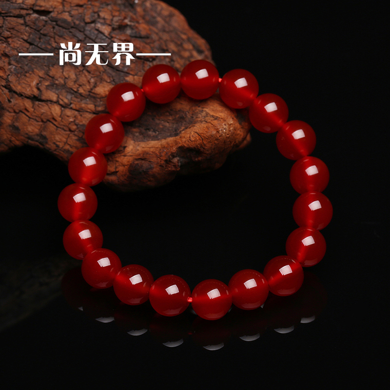 Shang unboundedness ms. bracelets beads natal natural red agate bracelet crystal jewelry valentine's day gift