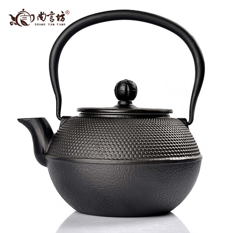 Shang yan fang tea tea accessories tea kettle boils iron cast iron pot cast iron kettle pot 1.2l ding