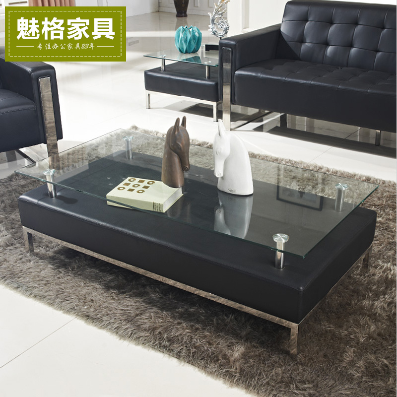 Shanghai charm office furniture office sofa table combination of herculite will be off the coffee table casual coffee table