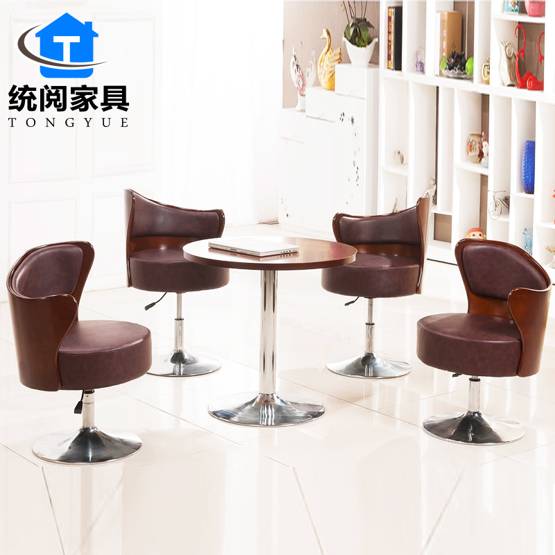 Shanghai ec read leisure furniture cafe small round table negotiating table reception desk office reception desk