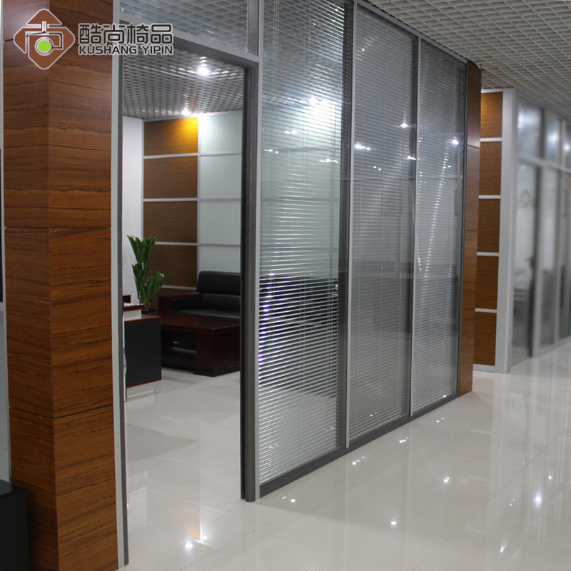 Shanghai factory direct office high partition a single aluminum partition glass partition wall high partition wall soundproof