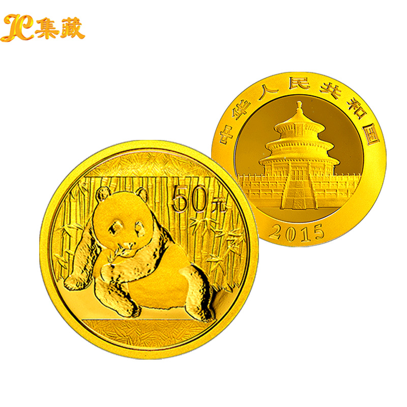 Shanghai jicang. gold investment. chinese coins panda gold coin 1/10 ounce gold panda coins in 2015