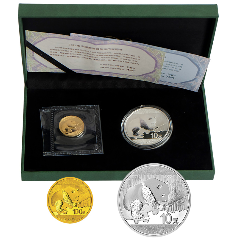 Shanghai jicang panda gold coins in 2016 (8 grams of gold + 30 grams of silver)