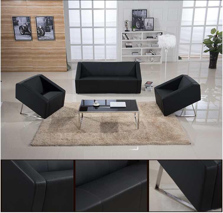 Shanghai office furniture business office sofa office sofa table combination minimalist modern office reception