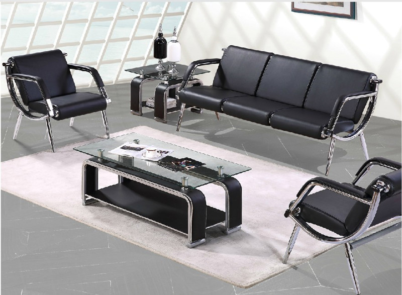 Shanghai office furniture leisure business minimalist office sofa leather sofa steeliness small casual seating