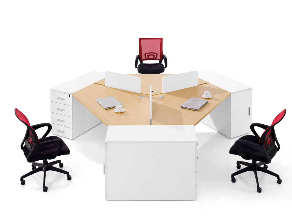 Shanghai office furniture modern minimalist fashion combination wall panels desk office furniture desk staff of six people