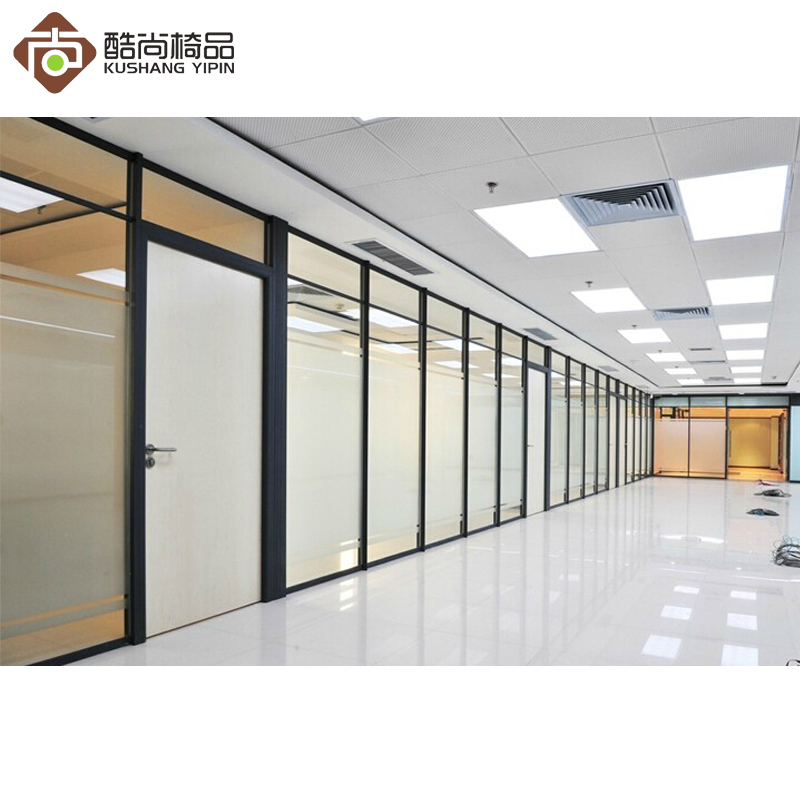 Shanghai office high partition office high partition wall soundproof partition frosted glass partition wall