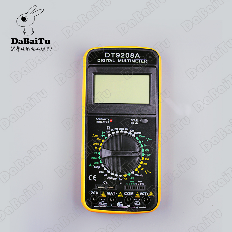 Shanghai sichuan instrument/leier da instrument digital multimeter dt9208a temperature detection, frequency