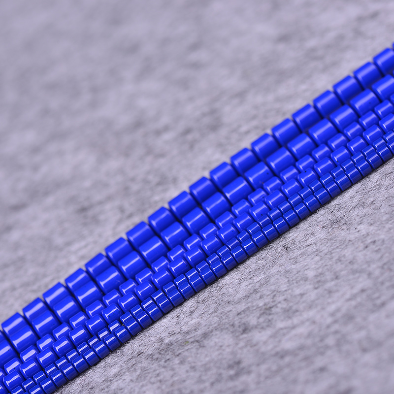 Shao yuan blue lapis lazuli ore may wish to color small barrel bead spacer beads loose beads diy jewelry accessories material semifinished
