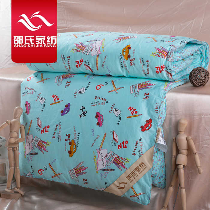 Shaw textile silk is 100% mulberry silk double palace filament children cartoon kindergarten students are special offer