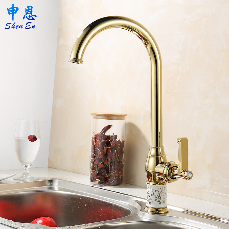 itm holes faucets two handle brass mount faucet antique new swivel inspired finish kitchen in wall double