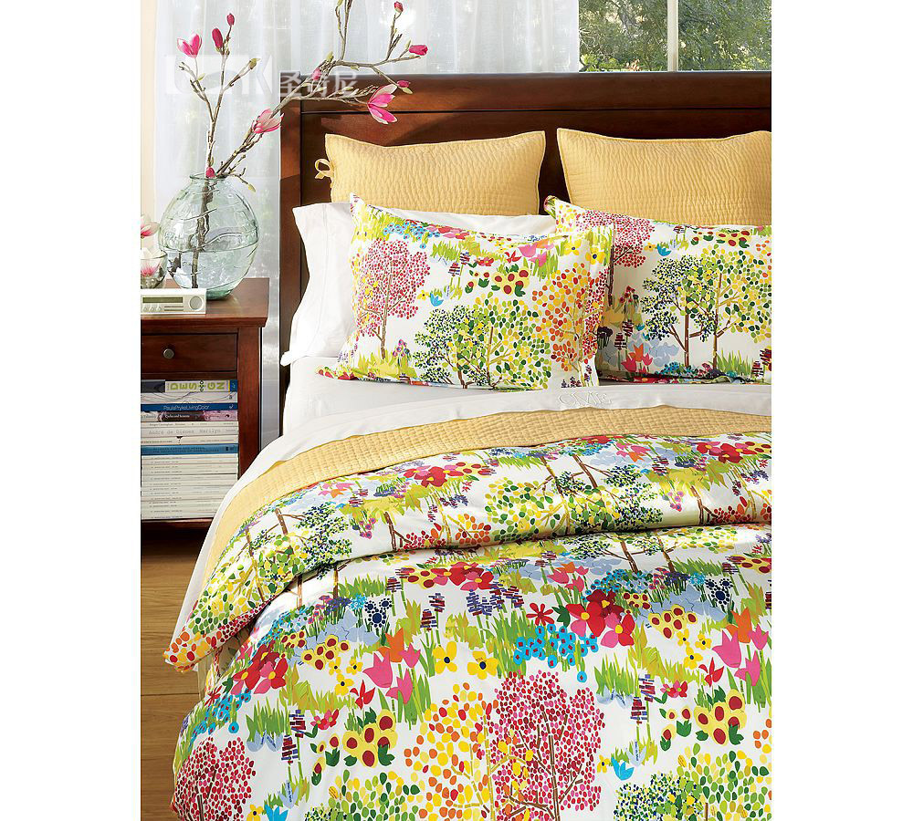 Sheng qini us imports of cotton spring 8 sets of beautiful romantic garden style custom bedding
