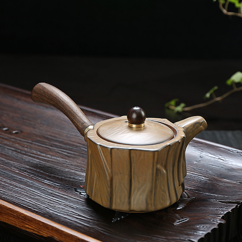 Sheng yide stoneware ceramic teapot ceramic teapot tea kung fu tea single pot ebony handle specials