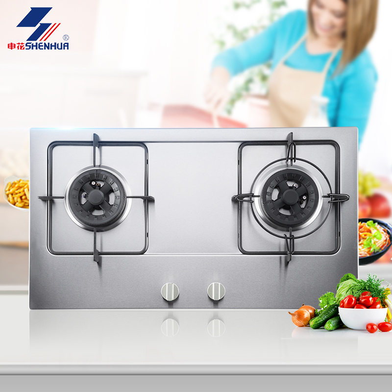 Shenhua 701XB6-A stainless steel straight fire household gas stove gas stove embedded liquefied natural gas stove gas stove gas stove