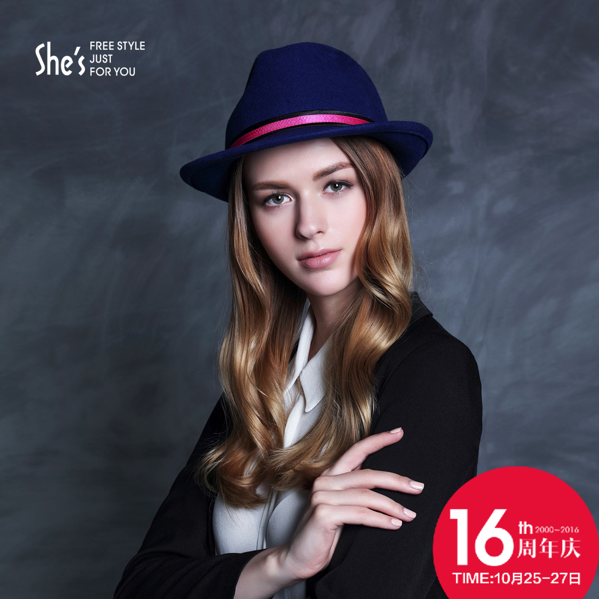 Shes sin child fashion wool hit color ribbon jazz hat autumn and winter warm woolen hat fashion hat female