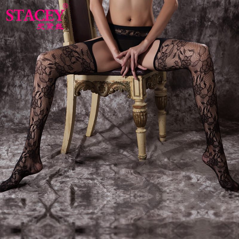 Shi daisi sexy black big yards rose rose pattern stockings suspenders stockings hollow surrounded by open files appeal
